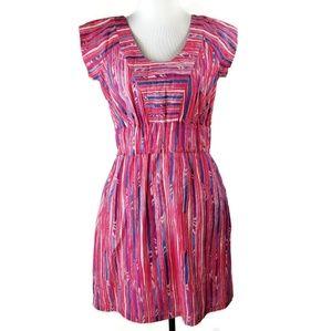 lauren moffatt pink elastic waist short sleeve 10